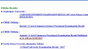 Sambalpur University, Odisha +3 second year results 2017 declared at orissaresults.nic.in
