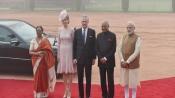 Belgian royal couple accorded ceremonial reception at Rashtrapati Bhavan