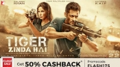 Christmas Special: Tiger Zinda Hai Movie Tickets Flat 50% Cashback* + Rs. 40 Cashback