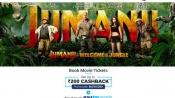 Jumanji 2 'Starring the Rock', Book Tickets Upto Rs.200 Cashback*