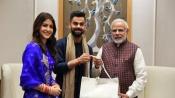 Virat Kohli, Anushka Sharma call on PM Modi, invite him for wedding reception