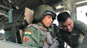 First woman defence minister Sitharaman takes off in a Sukhoi-30 fighter jet