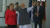Berlin: Narendra Modi meets Germany Chancellor Angela Merkel