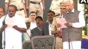 HD Kumaraswamy takes oath as Karnataka CM amid Opposition show of strength