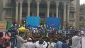 Heavy rains play spoil sport in Kumararaswamy's swearing-in ceremony