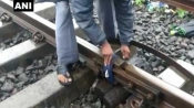 Cloth tied on railway track was marker, ministry clarifies
