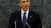"""Obama takes a dig at Trump for """"making stuff up"""""""
