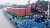 India's first container vessel movement on inland waterways begins