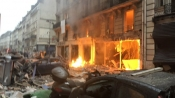12 injured in Paris explosion, police suspect gas leak