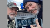 'Gift from heavens': 2 friends find fridge full of chilled beer cans in middle of flooded field