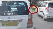 'Jugaad': This uber driver uses shaving mirror as rear-view