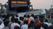 15 killed after Bangalore bound SRS travels bus hit vehicle in AP's Kurnool district