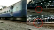 WATCH video of man who miraculously escape death after being stuck between platform and train
