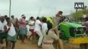 Watch: TRS workers in T'gana attack lady forest official in Asifabad; 2 cops suspended