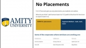 Amity University website hacked; Placement page asks for jobs at Porn sites