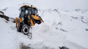 Snow clearing operations on Manali-Leh road still underway