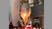 Here is how Twitterati reacted on giant Shankh in Delhi Airport