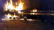 20 feared charred to death as bus catches fire after colliding with truck in UP's Kannauj