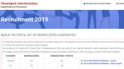 Chandigarh Administration Clerk Stenographer result 2019: Next round details