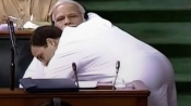 Congress' humorous Hug day wish for BJP