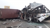 20 killed, several injured after KSRTC bus collides with truck at Coimbatore