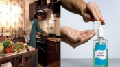 Why it is not a good idea to enter your kitchen after applying hand sanitiser