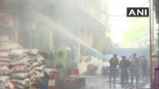 Delhi: Fire breaks out at shoe factory in Keshavpuram