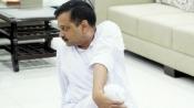 Arvind Kejriwal performs yoga at official residence, Delhi BJP leaders practice asanas in groups