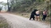 Viral video of gritty woman who clicked selfie with bear