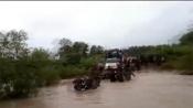 Watch: DRG personnel cross stream on foot after killing 4 naxals in Chhattisgarh