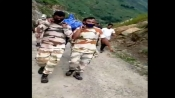 ITBP jawans walk through tortuous road for 8 hours to handover local's body to family