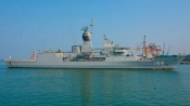 Australian HMAS Ballarat make port call in Goa