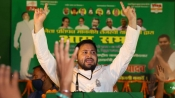 With early trends emerging, celebrations outside Tejashwi Yadav's house
