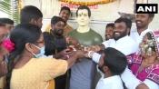 Locals in Telangana construct Temple in Sonu Sood's honour