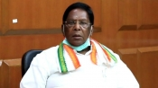 'Not allowing elected govt to function': Puducherry CM continues protest outside LG Kiran Bedi's office
