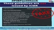 Fake: These guidelines on COVID-19 protocols are not issued by the ICMR