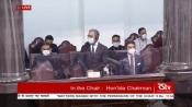 President of Inter-Parliamentary Union Duarte Pacheco observes Rajya Sabha proceedings