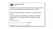 Fake: All social media accounts do not have to be verified with govt ID within 3 months