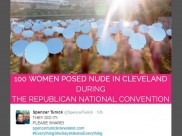 Over 100 women pose nude to protest against Trump ahead of GOP Convention
