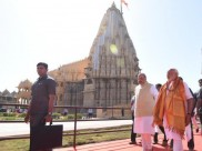 Narendra Modi offers prayers at Somnath temple
