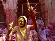 Widows of Vrindavan celebrate Holi