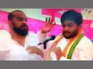 Congress leader Hardik Patel slapped at public rally in Gujarat