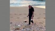 In pics: PM Modi plogging on a beach in Mamallapuram