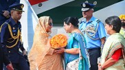 In pics: B'desh PM Sheikh Hasina on 4-day visit to India