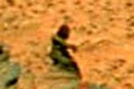 Woman image in Mars