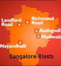 Bangalore Blasts- Map