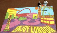 Worlds largest candy mosaic