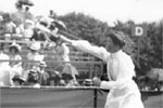 Charlotte Cooper a Brit became the first ever woman to win gold in Oly. She did it in Tennis