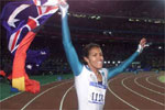 2000 Oly: Aussie Cathey Freeman won gold in 400m. She became the first Aussie aborginie ever to win a gold in the Games.