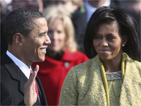 Why Michelle didn't froze during Inauguration?
